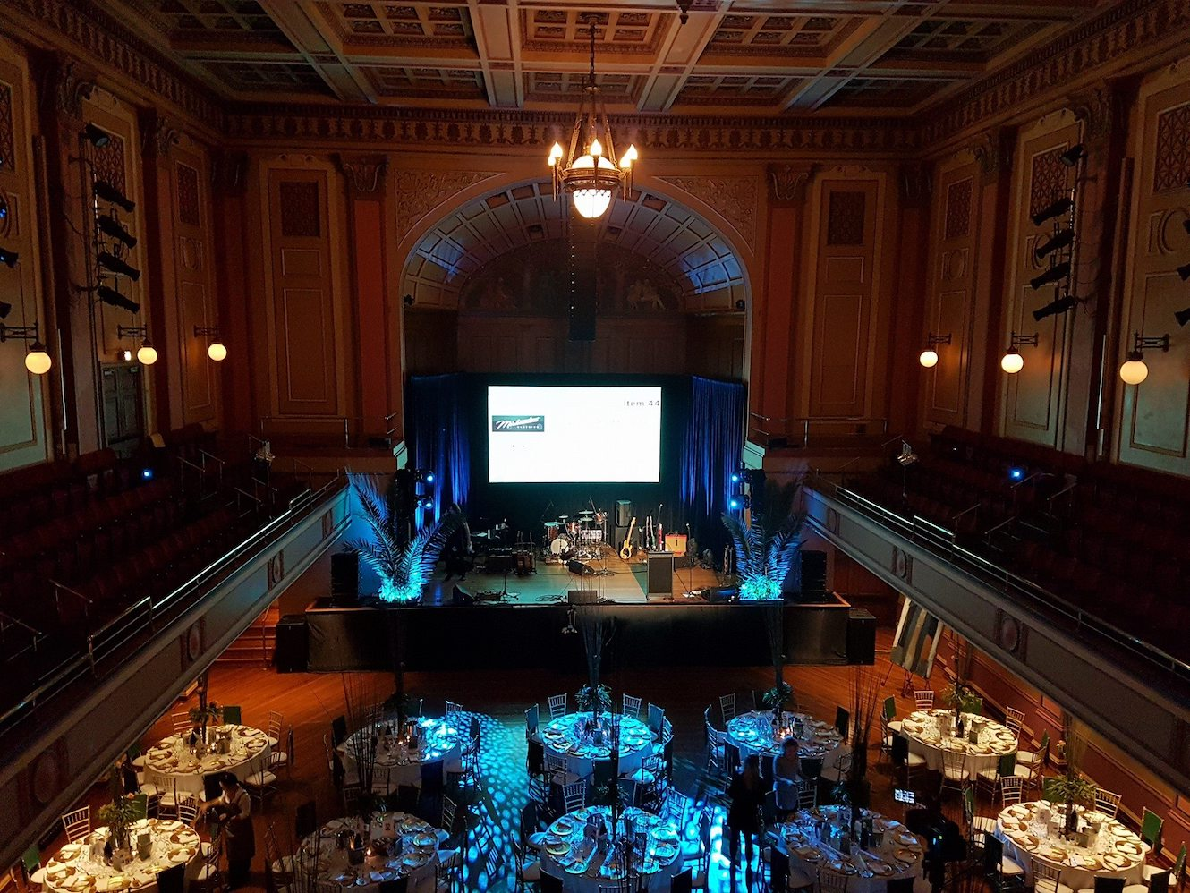 Getting ready to have a ball at Newcastle Town Hall. Photo @HMRI.