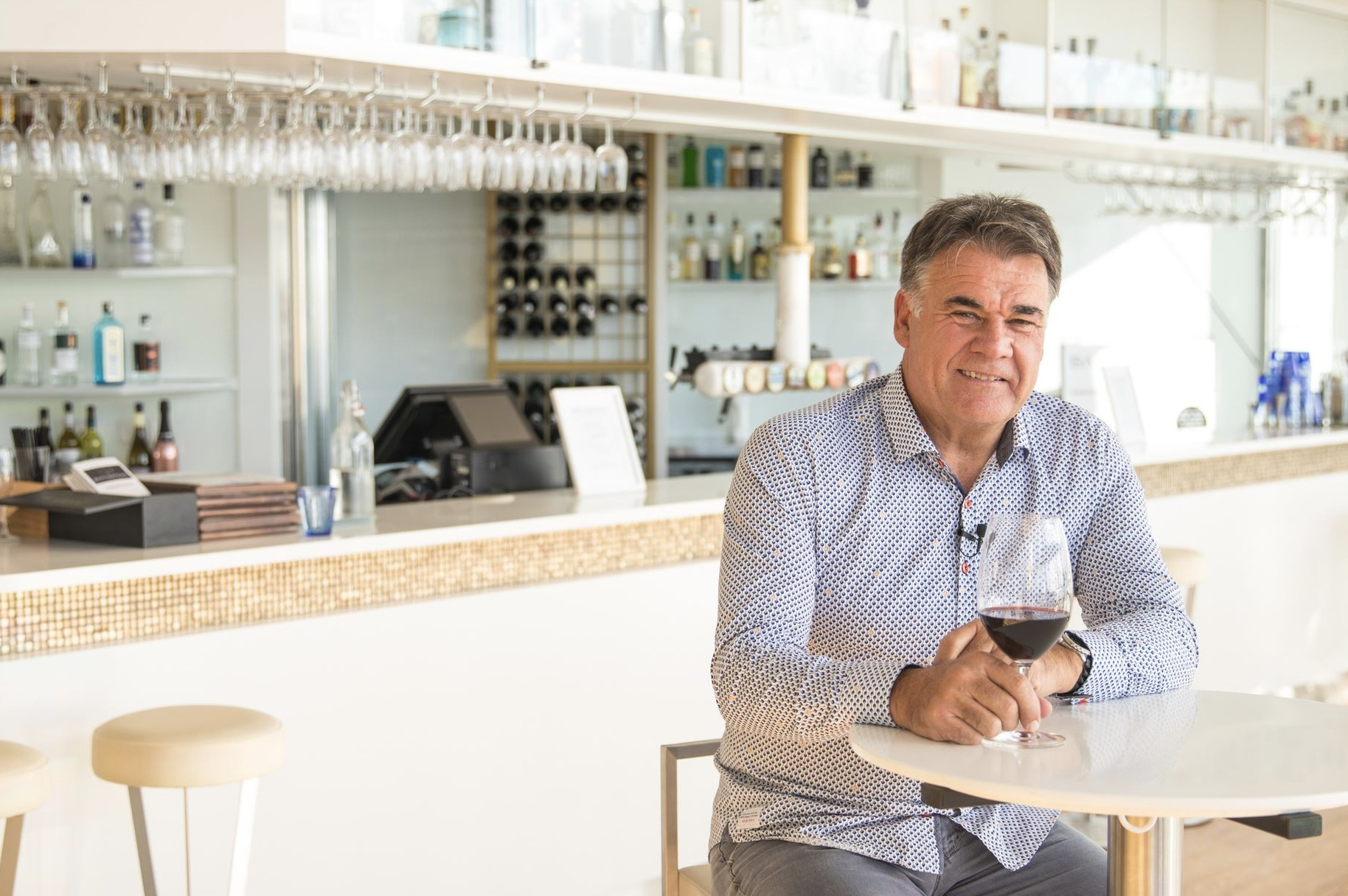 Neil Slater, Owner of Scratchley's talks to Long & Co Newcastle marketing firm